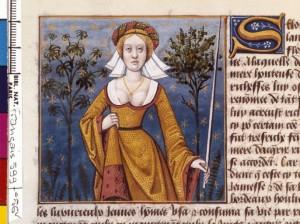 Boccace De mulieribus claris Traduction Laurent de Premierfait Illustrations Robinet Testard FrançaisFrançais 599, fol. 56v, Flore BNF