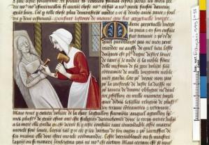 Boccace De mulieribus claris Traduction Laurent de Premierfait Illustrations Robinet Testard FrançaisFrançais 599, fol. 58, Iaia sculptant BNF