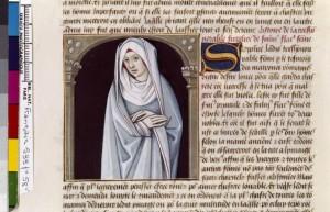 Boccace De mulieribus claris Traduction Laurent de Premierfait Illustrations Robinet Testard FrançaisFrançais 599, fol. 58v, Sulpicia Patercula BNF