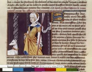 Boccace De mulieribus claris Traduction Laurent de Premierfait Illustrations Robinet Testard Français 599, fol. 5v, Sémiramis BNF