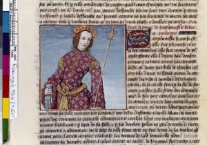 Boccace De mulieribus claris Traduction Laurent de Premierfait Illustrations Robinet Testard FrançaisFrançais 599, fol. 60v, Sophonisbe BNF