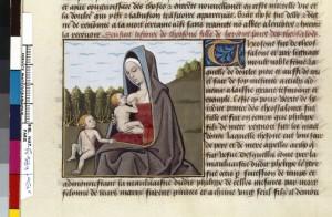Boccace De mulieribus claris Traduction Laurent de Premierfait Illustrations Robinet Testard FrançaisFrançais 599, fol. 61v, Theoxena allaitant BNF
