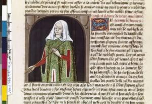 Boccace De mulieribus claris Traduction Laurent de Premierfait Illustrations Robinet Testard FrançaisFrançais 599, fol. 64v, Aemilia Tertia BNF
