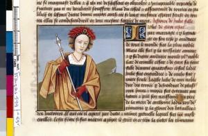 Boccace De mulieribus claris Traduction Laurent de Premierfait Illustrations Robinet Testard FrançaisFrançais 599, fol. 69v, Julia Caesar BNF