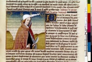 Boccace De mulieribus claris Traduction Laurent de Premierfait Illustrations Robinet Testard FrançaisFrançais 599, fol. 70, Porcia BNF