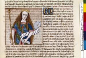 Boccace De mulieribus claris Traduction Laurent de Premierfait Illustrations Robinet Testard FrançaisFrançais 599, fol. 73, Mariamne I BNF