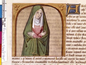 Boccace De mulieribus claris Traduction Laurent de Premierfait Illustrations Robinet Testard FrançaisFrançais 599, fol. 76v, Antonia Minor BNF