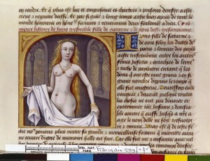 Boccace De mulieribus claris Traduction Laurent de Premierfait Illustrations Robinet Testard Français 599, fol. 7v, Junon BNF