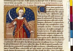 Boccace De mulieribus claris Traduction Laurent de Premierfait Illustrations Robinet Testard Français 599, fol. 8, Cérès BNF