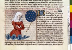 Boccace De mulieribus claris Traduction Laurent de Premierfait Illustrations Robinet Testard FrançaisFrançais 599, fol. 83, Anicia Faltonia Proba BNF
