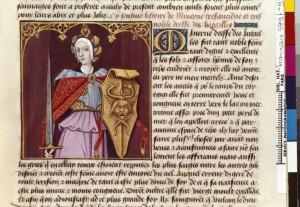 Boccace De mulieribus claris Traduction Laurent de Premierfait Illustrations Robinet Testard Français 599, fol. 9, Minerve BNF
