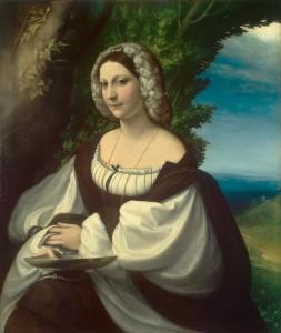Correggio Portrait présumé de Veronica Gambara Musee de l'Hermitage Saint Petersbourg