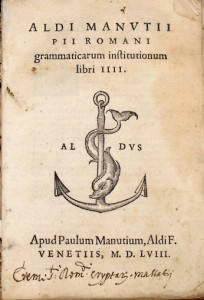 Colophon d'aldo Manuzzio