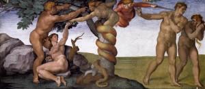 La tentation Michel Ange Le jugement dernier Chapelle Sixtine