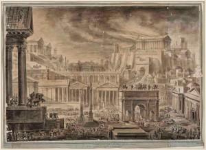 Luigi Rossini Vue de Rome impériale