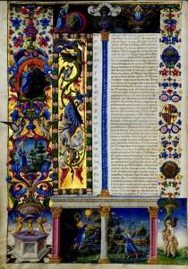 Bible de Borso d'Este Vue 11Vol 1 Biblioteca Estense Site la Bibliothèque numérique mondiale