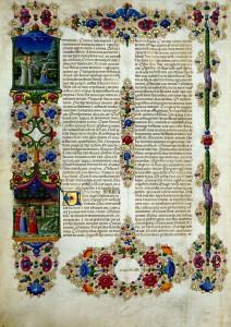 Bible de Borso d'Este Vue 24 Vol 1 Biblioteca Estense Site la Bibliothèque numérique mondiale