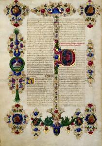 Bible de Borso d Este Vue 9 Vol 1 Biblioteca Estense Site la Bibliothèque numérique mondiale