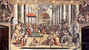 Donation de Constantin Raphael Chambre de Constantin Palais du Vatican Source Article Wikipedia Chambres de Raphael