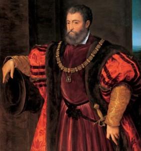 Bastianino, Alfonse I d'Este Duc de Ferrare copie d'après le tableau de Titien Florence Galerie Palatine