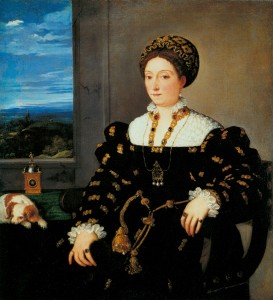 Eleonore Gonzague Duchesse d Urbin, Le Titien Galerie des Offices