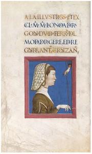 """Eleonora d'Aragon, Antonio Cornazzano's """"Del modo di regere e di regnare"""" Enluminure attribuée à Cosmè Tura (Cosimo di Domenico di Bonaventura) (ca. 1433–1495 Ferrare) MS M 0731, fol. 1r The Morgan Library and Museum, New York"""