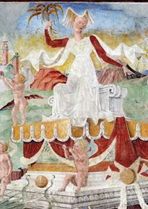 Gherardo di Andrea Fiorini da Vicenza Detail du triomphe de Ceres Palais Schifanoia