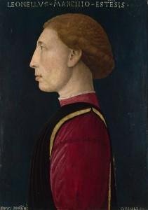 Giovanni da Oriolo, Portrait de Lionello d Este, tempera sur panneau, 1447 National Gallery, Londres