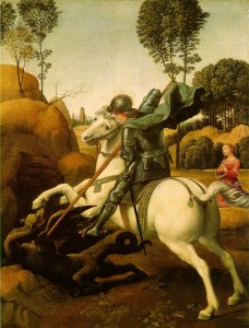 Saint george et le dragon Raphael National Gallery of Art Washington