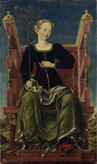Studiolo de Belfiore muse Erato Angelo Maccagnino Image Wikipedia Pinacoteca Nazionale de Ferrare Palazzo dei Diamanti