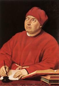 Tommaso Inghirami par Raphael deux copies: l'une au Musée Isabella Stewart Gardner de Boston et l'autre à la Galerie Palatine du Palais Pitti à Florence
