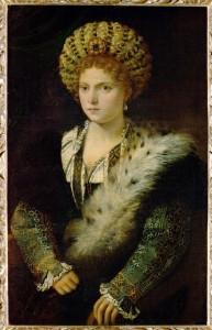 Titien Isabella d'Este en noir 1534-1536 Kunsthistorisches Museum Wien ARTstor.