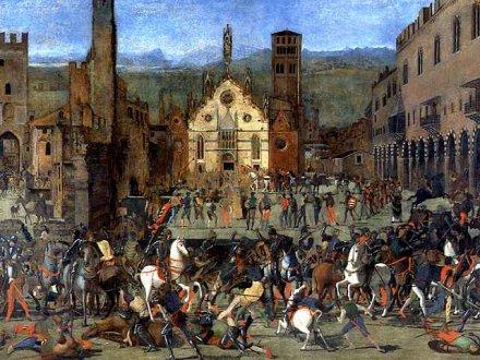 Domenico Morone La cacciata dei Bonacorsi da Mantova Image Web Gallery of Art Palais ducal de Mantoue