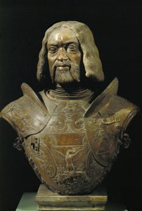 Giovanni Cristoforo Romano Francesco Gonzaga, Marquis de Mantoue & condottiere (1466–1519), 1498 Terracotta, h. 69 cm (27 1/5 in.) Museo del Palazzo Ducale, Mantua Erich Lessing/Art Resource, NY Site Italian Renaissance Resources