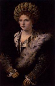 Le Titien Portrait d'Isabelle d'Este en 1536 d'après un original de Francia peint en 1511 Kunsthistorisches Museum Vienne Autriche Image Web Gallery of Art