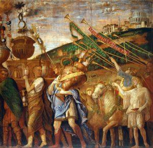 Andrea Mantegna Les triomphes de César Les porteurs de vases Image Web Gallery of Art Tempera on canvas Royal Collection, Hampton Court
