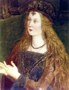 Lucrèce Borgia Détail de la dispute de Sainte Catherine par le Pinturicchio Appartements Borgia Musées du Vatican