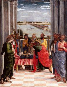 Andrea Mantegna La mort de la vierge Musée du Prado Madrid Image de l'exposition Mantegna au Louvre