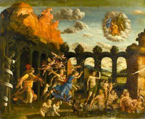 Minerve chasse les vices du jardin Mantegna Le Louvre dép. des Peintures, inv. 371 © RMN / Gérard Blot