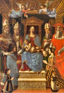 Pala Sforzesca Pinacoteca di Brera Ludovic le More et Béatrice d'Este