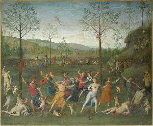 Le Perugino Combat entre l'Amour et la Chasteté Studiolo d'Isabelle d'Este © Musée du Louvre/A. Dequier - M. BardMusée du Louvre Paris
