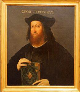 Portrait de Gian Giorgio Trissino 1525 huile sur toile peintre vénitien Pinacoteca di Como Section-renaissance