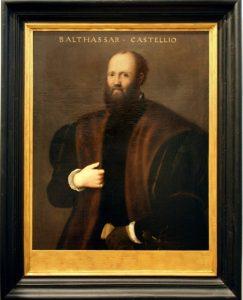 Portrait de Baldassare Castiglione par Bernardino Campi Pinacoteca di Como Section Renaissance