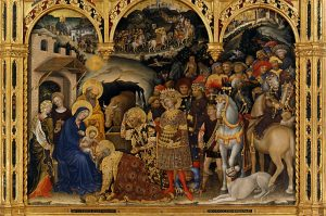Gentile da Fabriano Adoration des mages 1423 Galerie des Offices Florence Image Google Arts & Culture