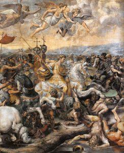 Eleves de Raphael Bataille du pont Milvius (detail) Salle de Constantin Vatican Image Web Gallery of Art