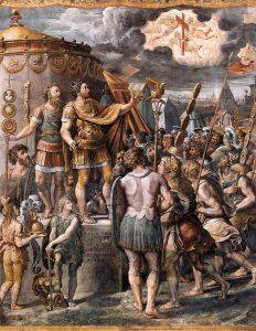 Elèves de Raphael Vision de la croix Salle de Constantin Vatican Image Web Gallery of Art