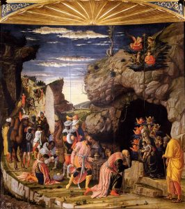 L'adoration des Mages Triptyque de Mantegna Image Web Gallery of Art Musee des Offices Florence