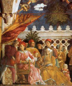 Andrea Mantegna Palais ducal de Mantoue Castello San Giorgio Chambre des Epoux La cour Détail