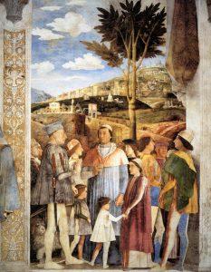 Andrea Mantegna Palais ducal de Mantoue Castello San Giorgio Chambre des Epoux La rencontre Image Web Gallery of Art