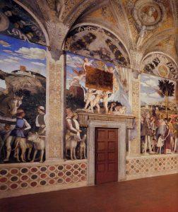 Andrea Mantegna Palais ducal de Mantoue Castello San Giorgio Chambre des Epoux La rencontre avec escorte Image Web Gallery of Art